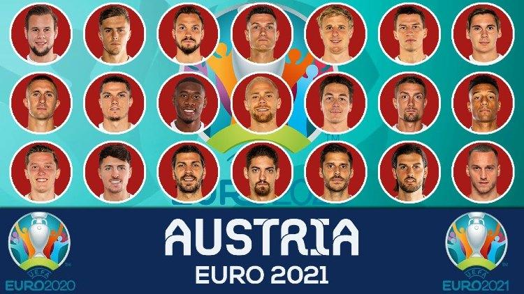 Euro 2021 AUSTRIA Squads List