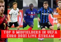 Top 5 Key Midfielders in the UEFA Euro 2020 Live Streaming Match
