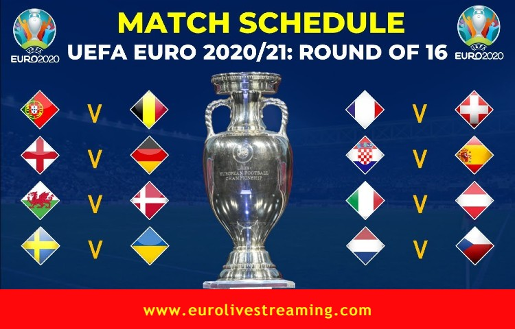 Which Euro 2021 Team Facing Whom in the Round of 16 in UEFA Euro 2020_